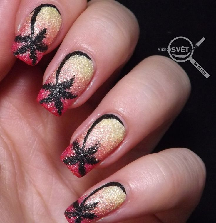 Nailpolis Museum of Nail Art | Palm tree by Mikrosvět by Ellen