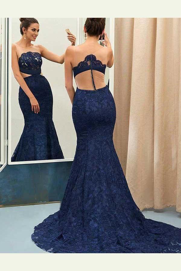 Hot Sale Dazzling Blue Prom Dress cee52f8fa626