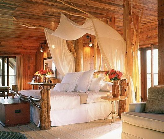 Bedroom Beautiful Romantic Bedroom For Couple With King Size Wooden Bed Set With Canopy All