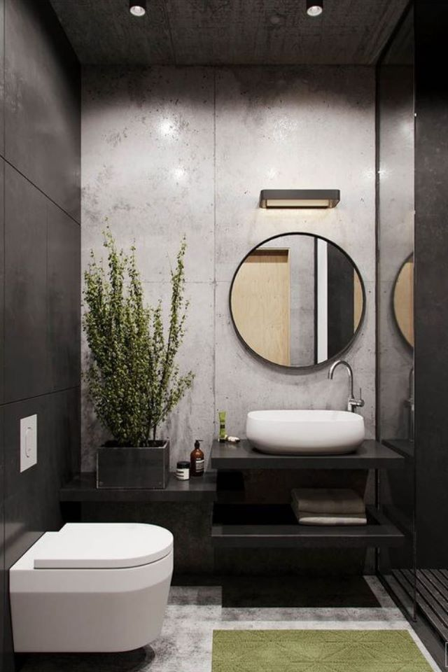 Find Out Here The Best Lighting And Bathroom Inspiration For Your Interior Design Project Www Delightf Living Room Loft Small Bathroom Remodel Toilet Design