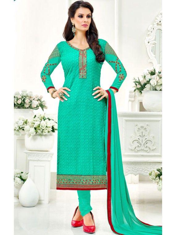 Angelic Jade Green Embroidered Salwar Suit