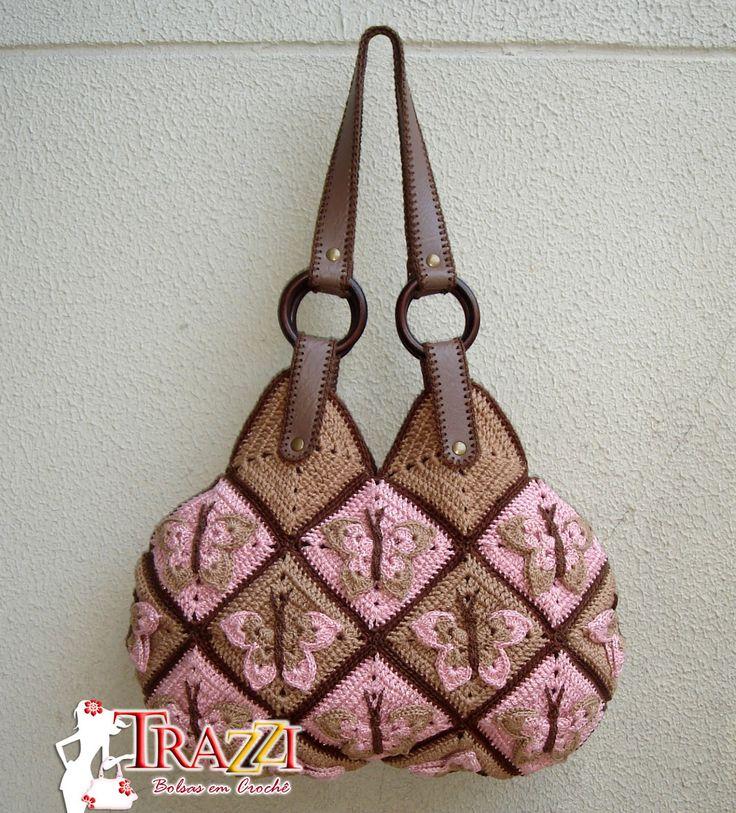 Catiele Crochet: Handbag and Purse D & G Farfalla - My! [Beautiful butterfly inspiration.]