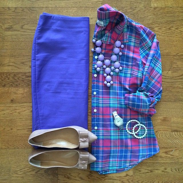 Love plaids...love these colors