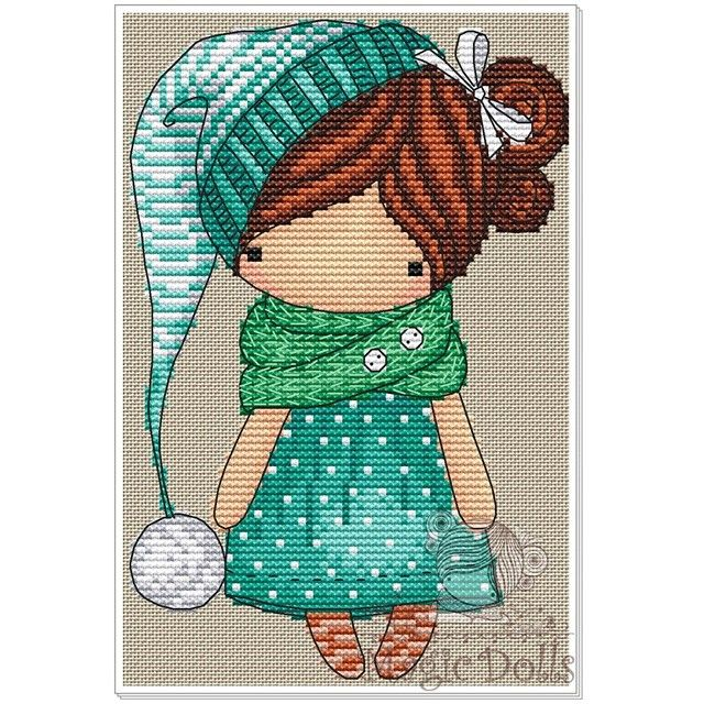 #mika__mila_katya #magic__dolls #crossstitch #вышивка @magic__dolls Turquoise/Бирюза 61*91 stitch, 18 DMC color, cross stitch, backstitch