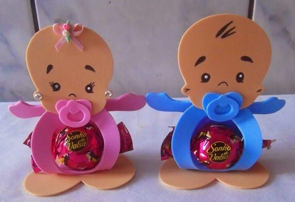 ARTE COM QUIANE - Paps, Moldes, E.V.A, Feltro e Costuras: molde porta bombom para lembrança de chá de bebê ou maternidade