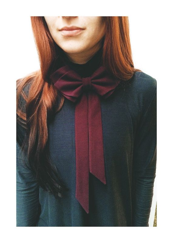 Hey, I found this really awesome Etsy listing at https://www.etsy.com/listing/225292942/women-bow-tie-marsala-bow-tie-womens-bow