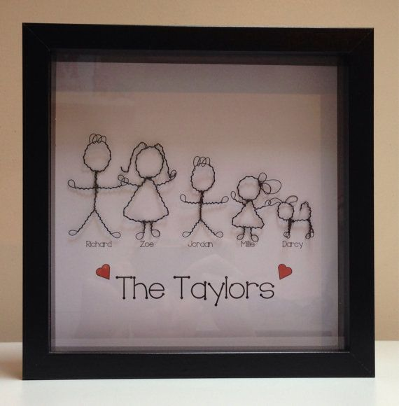 Personalised Wire Family Tree Picture Unique by MeSweetArt