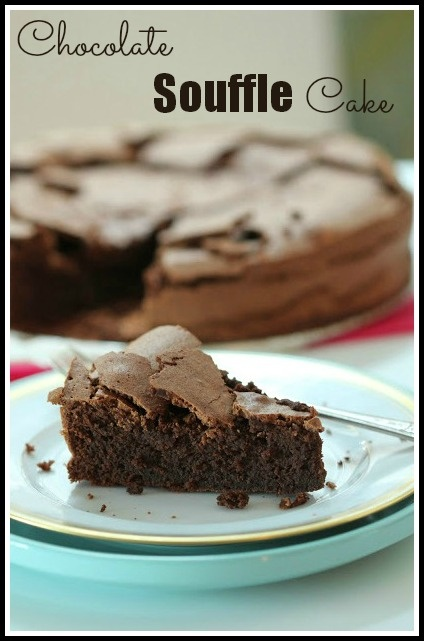 Chocolate Souffle Cake. Click for the recipe.