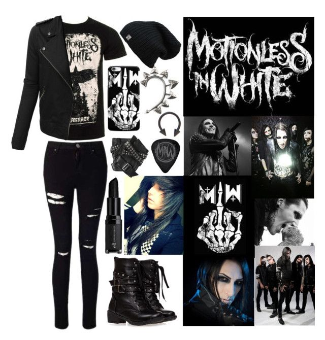 """""""A-Z Challenge M: Motionless in White"""" by scene-bean ❤ liked on Polyvore featuring LE3NO, Miss Selfridge, Rachel Entwistle, Karl Lagerfeld and e.l.f."""