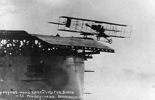 101-years ago, January, in San Francisco , when a pilot Eugene Ely invented naval aviation