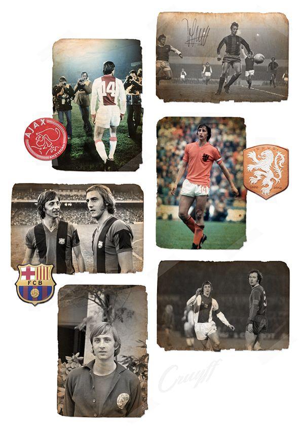 Cruyff y los 5 grandes on Behance