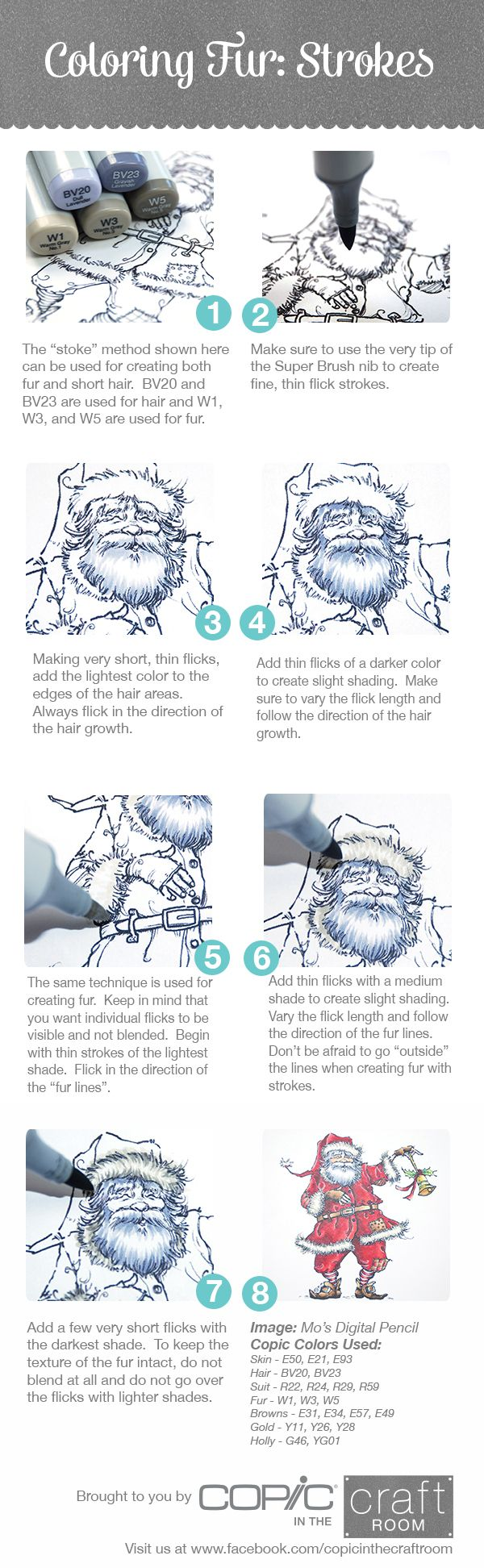 Brought to you by Copic in the Craft Room.  Learn how to create fur with your markers!  Quick and easy - works for short hair and beards too!