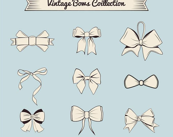 Big Set Of Bow Svg Bow Tie Bow With Ribbons Bows Design Etsy In 2020 Bow Design Bow Drawing Ribbon Bows