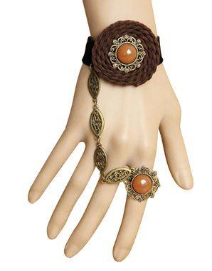 Elegant Gemstone Ring Brown Colored Lace Bracelet By Returnfavors