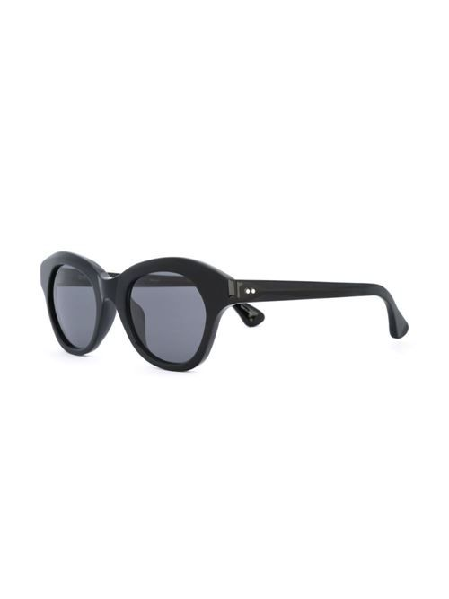 a600e9e2f Black 'Dries Van Noten' cat eye sunglasses with grey tinted lenses from Linda  Farrow