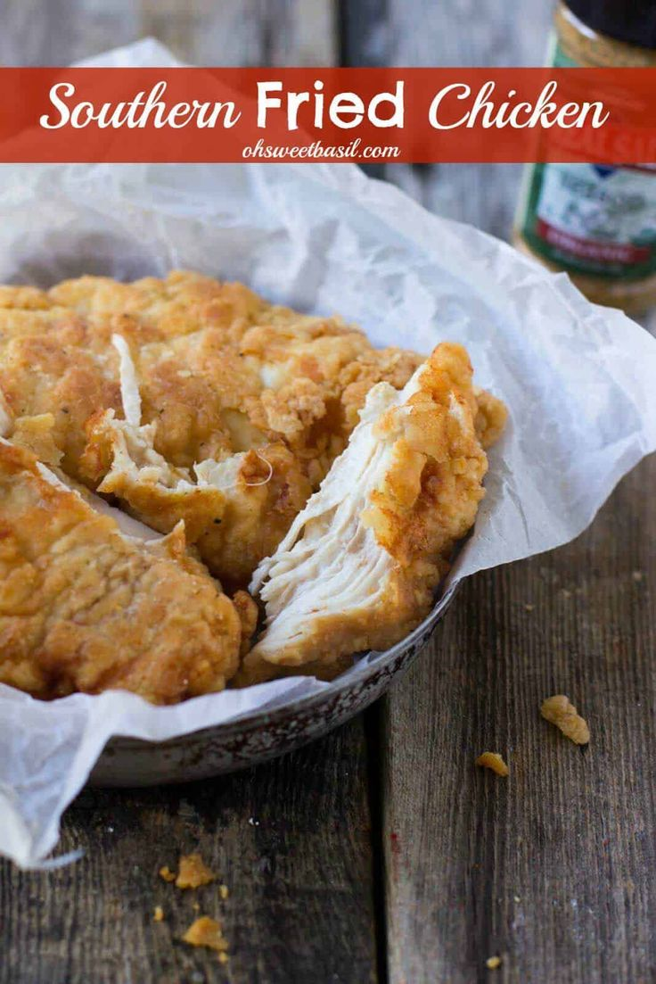 I mean, who can really resist crunchy, juicy Southern fried chicken-! ohsweetbasil.com via @ohsweetbasil