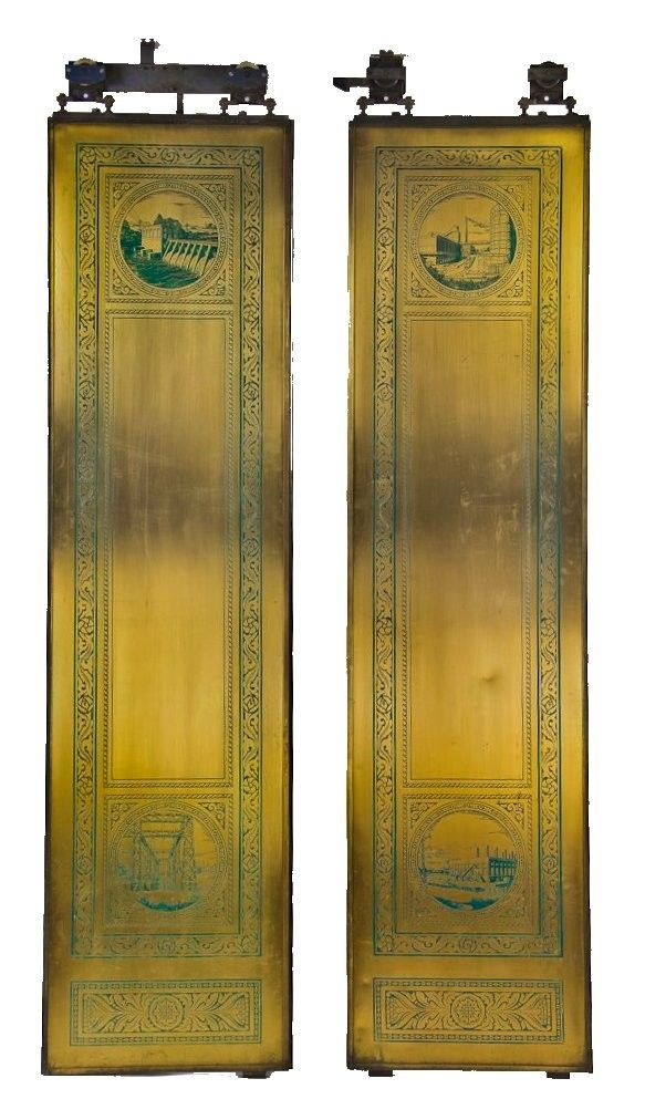 Matching set of original early 1930's American depression era Chicago Board  of Trade brass elevator doors - 41 Best Architectural Doors Images On Pinterest Industrial