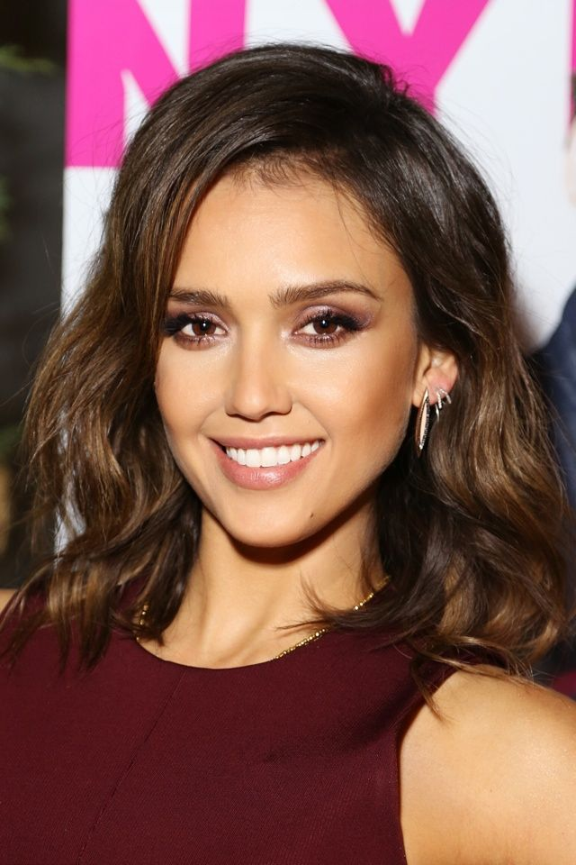 Jessica Alba WOWS In Burgundy Cutout Dress At Nylon Magazine March Issue Launch Party