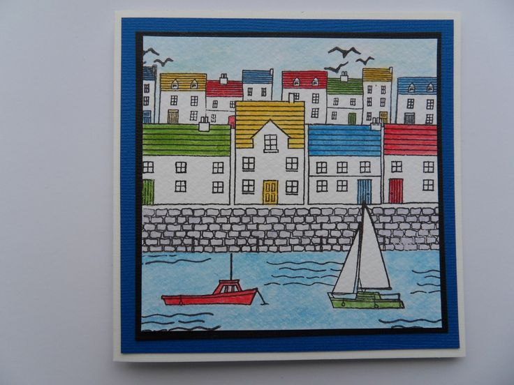 Harbour card - Design and Stamps by Hobby Art Stamps