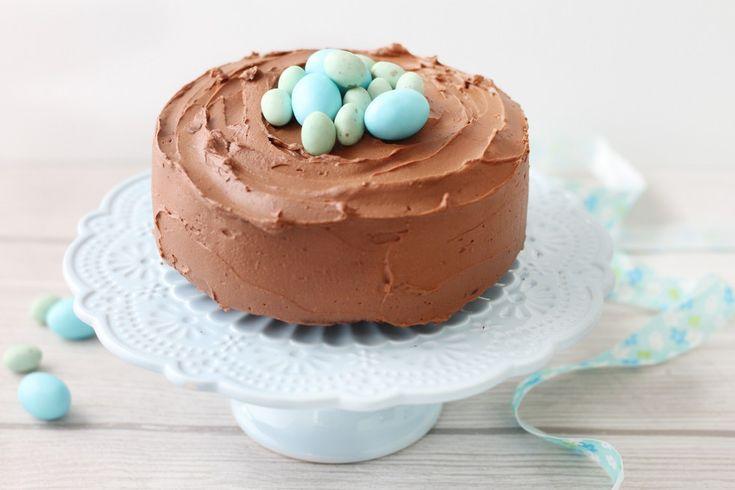 Torta al cacao con crema al mascarpone e cioccolato