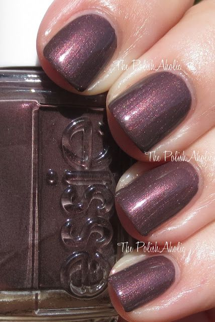 Essie Sable Collar (Winter 2013). Smokey reddish brown with red/metallic shimmer. Very versatile colour for winter.