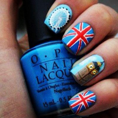 30 Best British Flag Nail Art Designs  #Britishflag #nailartdesigns #London #british #naildesigns #nailarts #Nail_art_Designs
