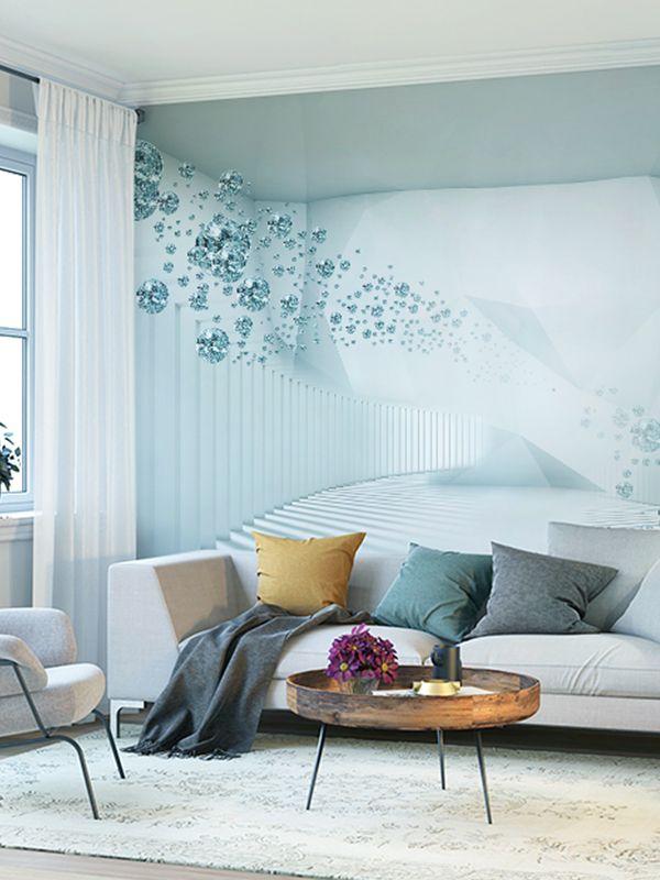 Sumgar Self Adhesive Wallpaper 3d Wall Murals Teal Crystal Ball Home Decor For Living Room 1 3d Wallpaper Living Room Wall Murals Bedroom Wallpaper Living Room