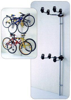 bike storage - rack has room for 4 bikes, perfect! £39.99 41cm out from wall.