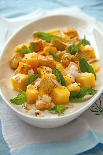 Mango Chicken Salad with Coconut and Tamarind