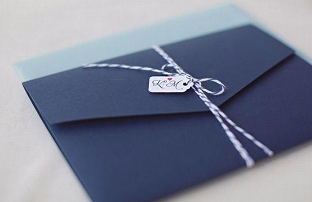 faire part de mariage bleu elegant poche style