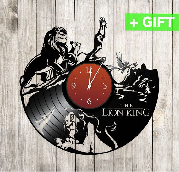 Lion King sticker on the clock Lion King gift by SInteriorsShop