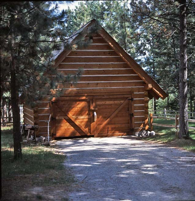 1000 images about cabin fever garage doors on pinterest for Log garage designs