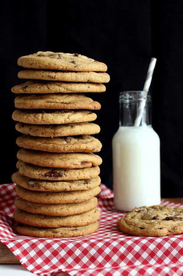 Wicked sweet kitchen: Dark chocolate chip cookies with sea salt