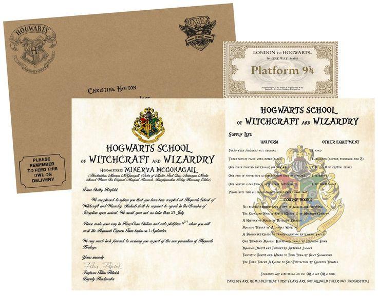 28++ Hogwarts acceptance letter envelope ideas