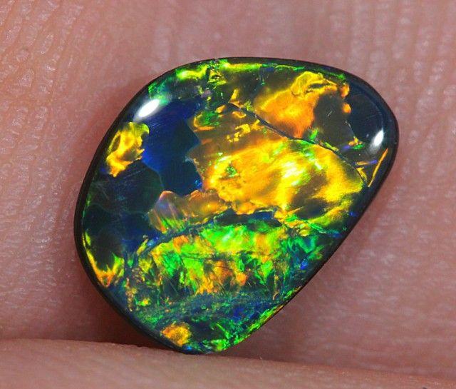 1.1ct Sparkling Gem Lightning Ridge Opal Doublet opal doublet , australian doublet opal, opal