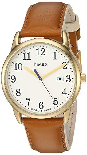 25ea377a59ae Amazon.com  Timex Women s TW2R62600 Easy Reader 38mm Blue Gold-Tone Leather