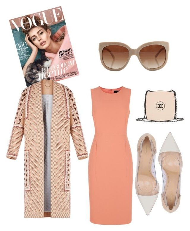 """""""Sophisticated Jacket"""" by joyce-martadinata on Polyvore featuring BCBGMAXAZRIA, Jaeger, Gianvito Rossi, Chanel and STELLA McCARTNEY"""