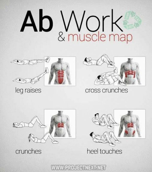 Get creative with ab workouts. Crunches only work one targeted area.