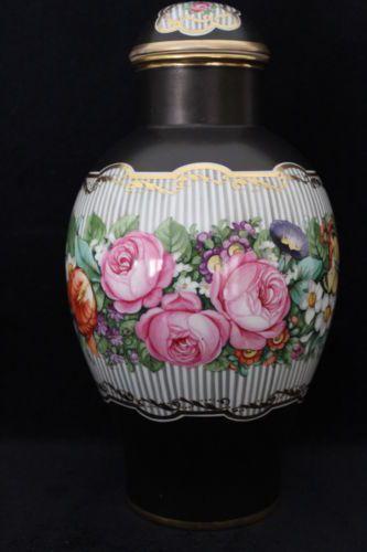 Superb-Selten-Nymphenburg-Porzellan-28cm-Blume-Deckelvase-Josef-Wackerle-Perfekt