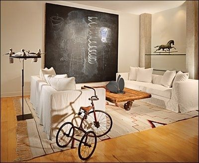 trike: Coffee Tables, Living Rooms, Chalkboards Paintings, Rooms Art, Chalk Boards, Chalkboards Art, Paintings Wall, Chalkboards Ideas, Chalkboards Wall