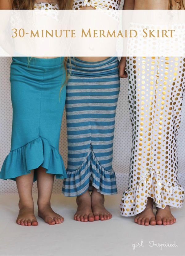 Mermaid Skirt DIY- Looks like a good mommy and daughter matching mermaid skirts project!  Woot woot!!!