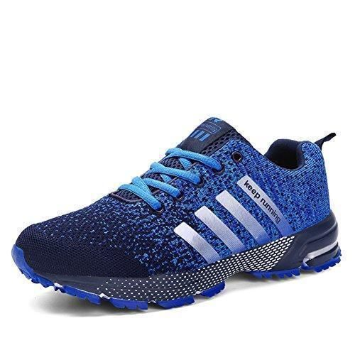 Oferta: 28.99€. Comprar Ofertas de Sollomensi Zapatos para Correr en Montaña y Asfalto Aire Libre y Deportes Zapatillas de Running Padel para Hombre Azul 38 barato. ¡Mira las ofertas!
