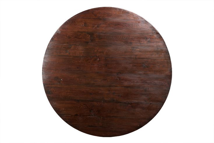 Pad Foot Round Oak Dining Table - Mecox Gardens