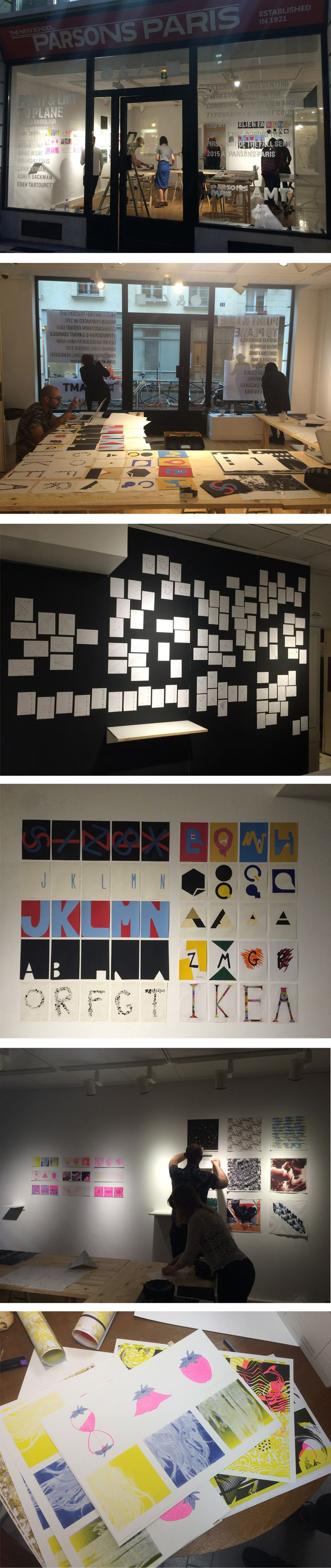 """Ontem, aqui em Paris, foi a abertura da exposição """"Point And Line To Plane""""  dos estudantes do curso de graduação em Arte, Mídia e Tecnologia da  Parsons The New School.  Fazendo uma menção ao livro homônimo, publicado por Kandinsky em 1926, a  exposição apresentou os trabalhos feitos"""
