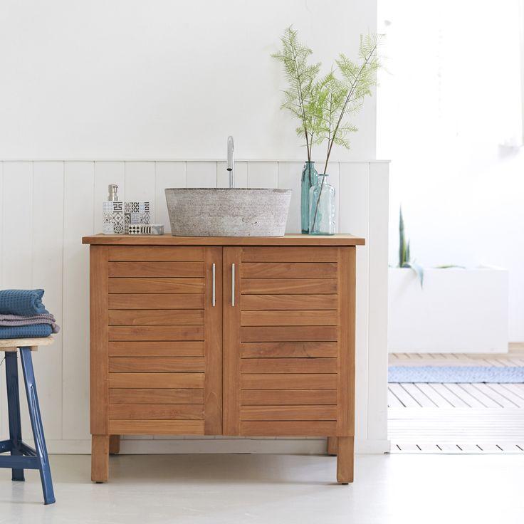 die besten 25 waschtisch teak ideen auf pinterest. Black Bedroom Furniture Sets. Home Design Ideas