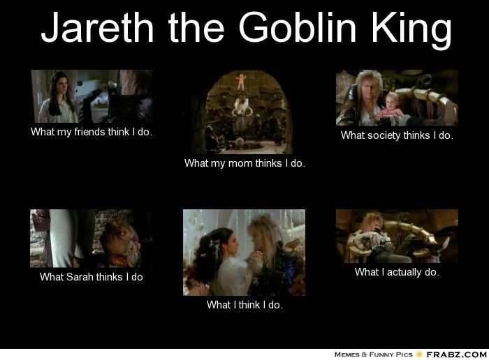jareth and sarah | Jareth the Goblin King... - Meme Generator What i do