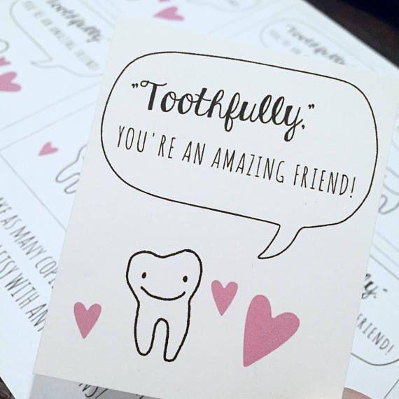 Printable Dental Valentine Dental Kid S Valentine Printable Valentines Cards Dental Kids Dental Gifts
