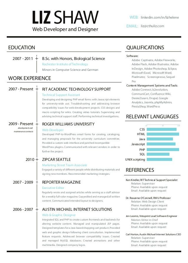 resume-web-development-and-design-1-638jpg (638×891) Resume - technical support resume