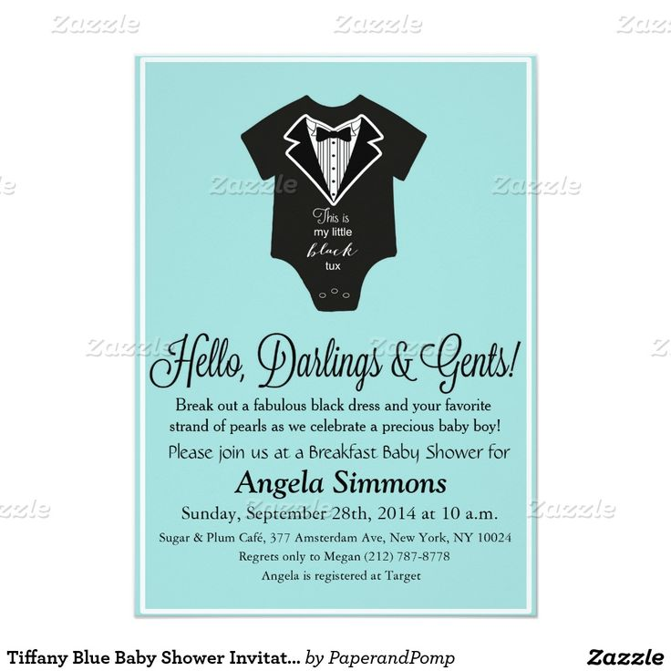 27 best Tiffany Invitations images on Pinterest | Baby shower themes ...