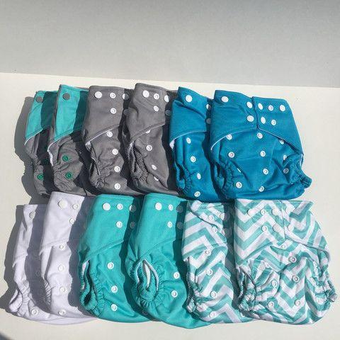 Turquoise Ensemble de couches lavables Envoi postal gratuit